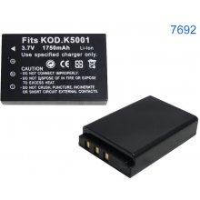 Qoltec aku for KODAK, K5001 1750 mAh 3.7V...