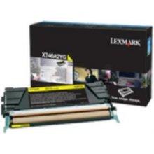 Тонер Lexmark X746A3 Y, Laser, Lexmark...