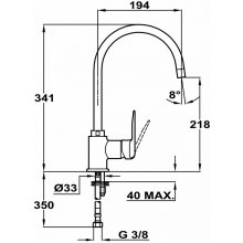 Teka IN 995 INCA TG hall Kitchen faucet