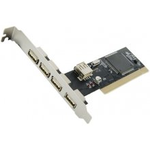 4World Driver 5 ports (4+1) USB 2.0 for PCI