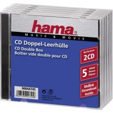 Диски Hama 1x5 Standard CD Double Jewel Case...