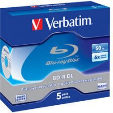 Диски Verbatim Bluray 50GB 5pcs Spin 6x...