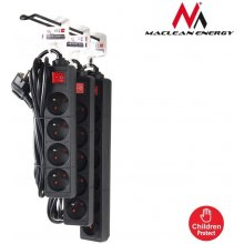 Maclean MCE51 Power Strip 5-outlet с switch...