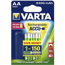 VARTA 1x2 Rechargeable Accu AA Ready2Use...