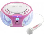 Магнитола Lenco SCD-650 pink - FM-radio, CD...