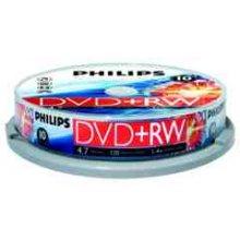 Philips 10 x DVD+RW - 4.7GB / 120min, DVD+RW