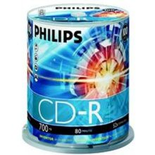 Toorikud Philips CD-R 700MB 100pcs Spindel...