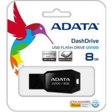 Флешка ADATA Flashdrive DashDrive UV100 8GB...