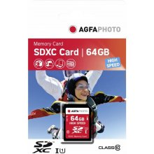 Флешка AGFAPHOTO SDXC Card 64GB High Speed...