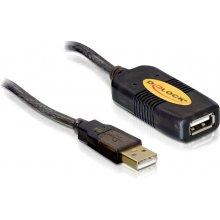 Delock USB Verl. A -> A St/Bu 5.00m aktiv sw