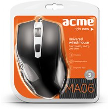 Hiir Acme MA06 Wired, Black, optiline Mouse