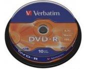 Diskid Verbatim DVD-R 4.7GB 16x matt...