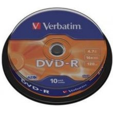 Toorikud Verbatim DVD-R Matt hõbedane 4,7GB...