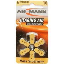 Ansmann 1x6 Zinc-Air 10 (PR 70) Hearing Aid...
