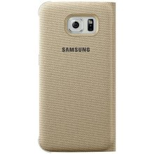 Samsung Flip Wallet Fabric für S6 gold