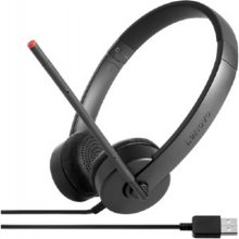 LENOVO stereo USB, Head-band, No, No, Black