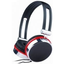 Gembird stereo наушники, black-silver-red