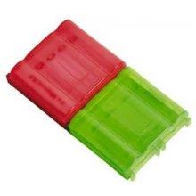 Hama 2 Akkuboxen transparent punane/roheline