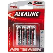 Ansmann 1x4 Alkaline Micro AAA LR 03...