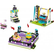 LEGO Friends toy cars at an amusement park
