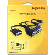 Delock 2 Port VGA Data Splitter 450 MHz