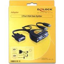 Delock DATA Splitter VGA 2 Port USB