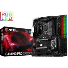 Emaplaat MSI Z170A GAMING PRO CARBON s1151...