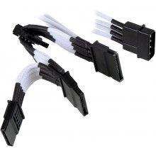NZXT Molex to 4 Sata кабель 200mm - белый