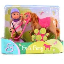 SIMBA EVI Pony Lalka z Koniem, jasny brąz