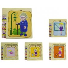Brimarex Wooden puzzle w ith characters...