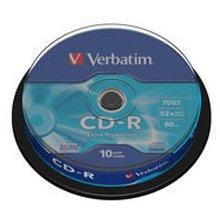 Toorikud Verbatim CDR 80MIN 700MB 52X