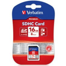 Mälukaart Verbatim SDHC Card 16GB Class 10