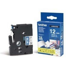 BROTHER Tape 12mm WHITE ON BLUE