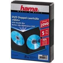 Diskid Hama DVD-Doppel-Leerhülle Slim must 5...