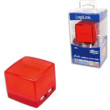 LogiLink USB-HUB Cube 4-Port illuminated...