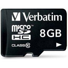 Mälukaart Verbatim microSDHC 8GB Class 10...