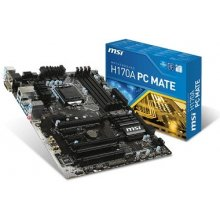 Emaplaat MSI MB H170 S1151 ATX/H170A PC MATE