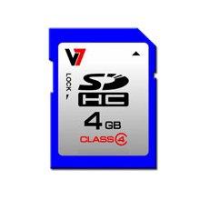 Флешка V7 SDHC 4GB, Secure цифровой...