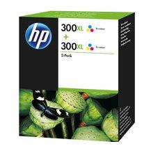 Тонер HP INC. HP 300XL 2-pack Tri-color...