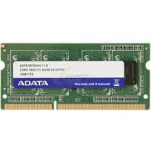 Mälu ADATA 4 GB, DDR3, 204-pin SO-DIMM, 1600...
