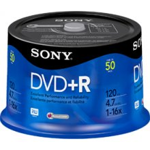 Диски Sony DVD+R 4,7 GB | 16x [bulk 50 pcs]