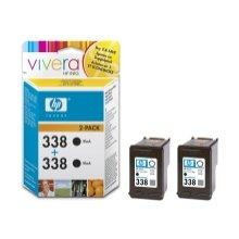 Тонер HP Cartridge 338 чёрный 2pack Vivera |...