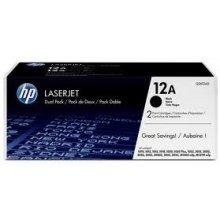 Тонер HP Toner Q 2612 AD Twin Pack чёрный...