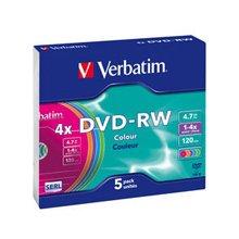 Toorikud Verbatim DVD-RW 4,7GB 5x Slimcase