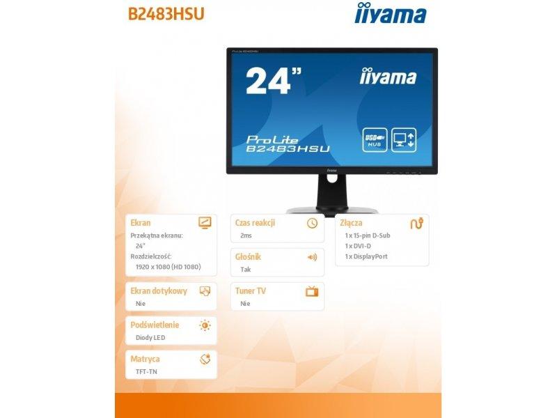 IIYAMA ProLite B2483HSU-B1DP (EEK: B)