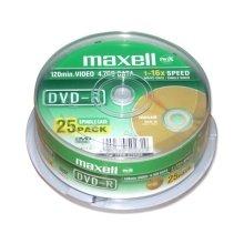 Toorikud Maxell ketas DVD-R 4,7 16x cake 25