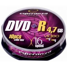 Diskid ESPERANZA DVD+R 4,7GB x16 - Cake Box...
