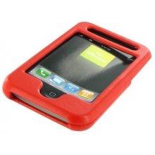 4World iPhone etui nahast punane