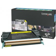 Тонер Lexmark Toner C734DN жёлтый C734A1YG