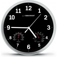 ESPERANZA WALL CLOCK LYON BLACK